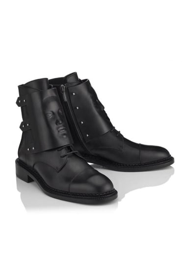 Ares Black Leather Boot