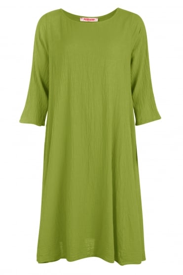 Chartreuse Calico Identater Dress