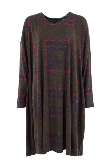 Abstract Oversize Jersey Dress