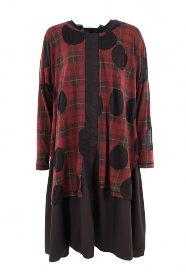 Red Burn-out Oversize Dress