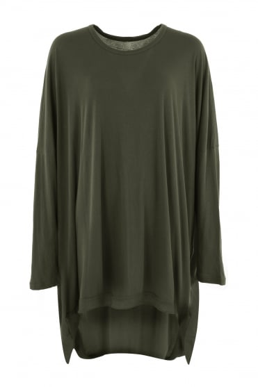 Green Cotton One-Size Dress