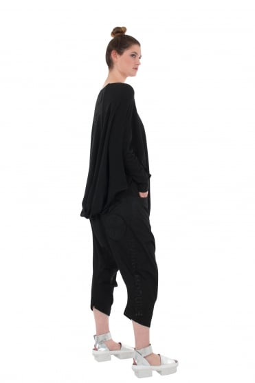 Black Crisp 3/4 Length Trouser