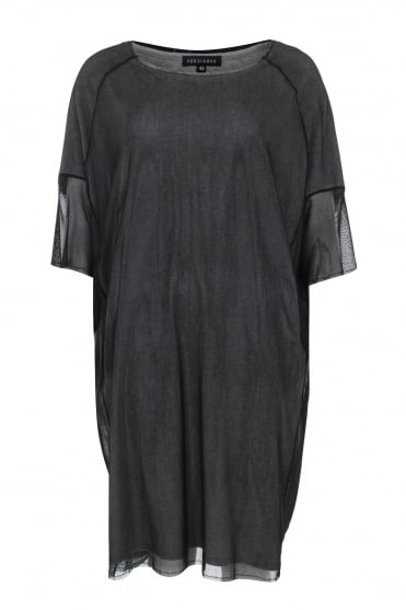 Mesh and Jersey Layered Tunic