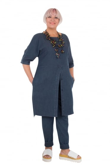 Denim Split Hem Tunic