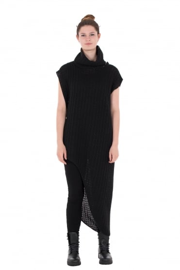Sola Black Knit With Collar
