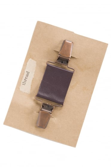 Burgundy Leather Clip