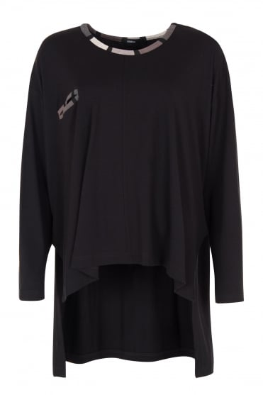 Yam Black Cut-Away Tunic