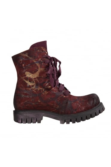 Bellum Bordeaux Hand-Painted Boots