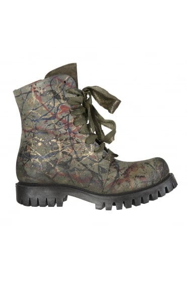 Bellum Green Hand-Painted Boots