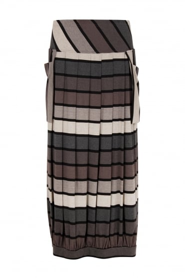 Stripe Jersey Enid Skirt