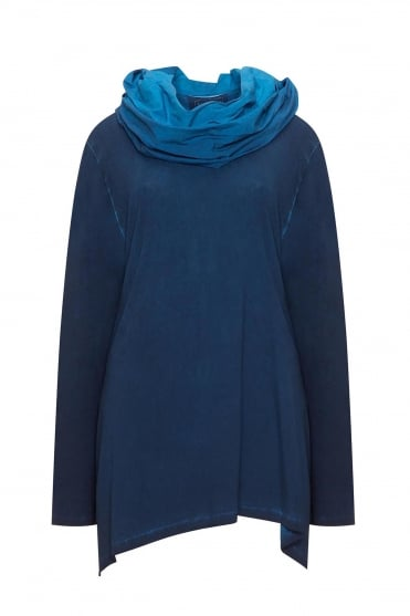 Blue Old Look Jersey Tunic