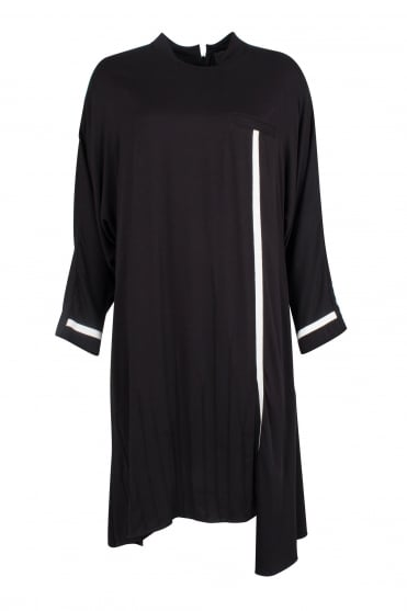 Black Dress With Feature Pleats