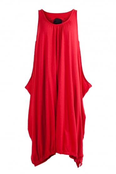 One-Size Cotton Dress Red