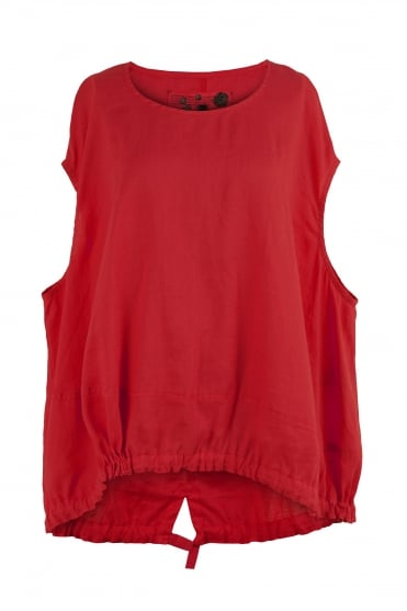 Ramie Red Blouse