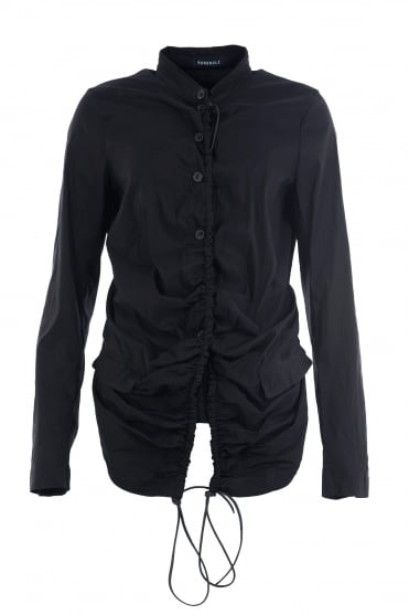 Black Ruch Fitted Stretch Jacket
