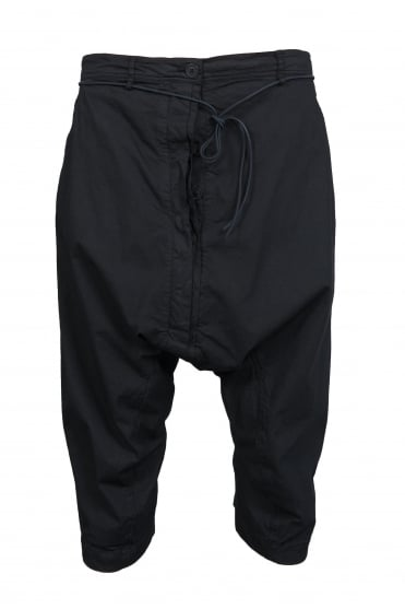 Black Cotton Stretch Trouser