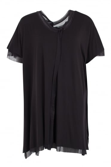 Black Double Layer Oversize Tunic