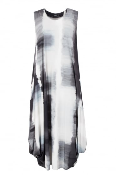 Monochrome Print Utan Jersey Dress