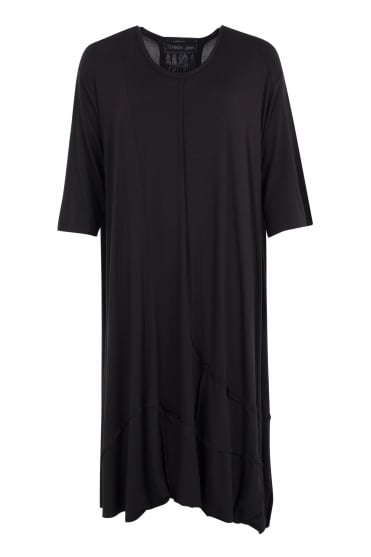 Black Seam Detail Jersey Tunic