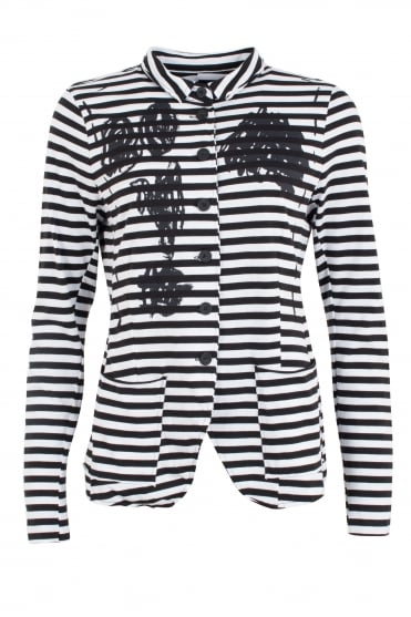 Stripe and Scribbles Jacket