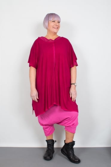 Pink Double Layer Oversize Tunic