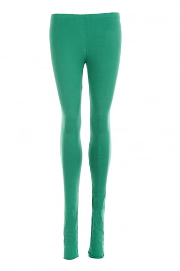 Green Cotton Leggings