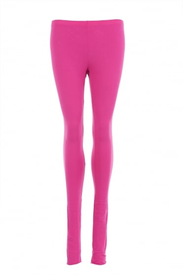 Pink Cotton Leggings