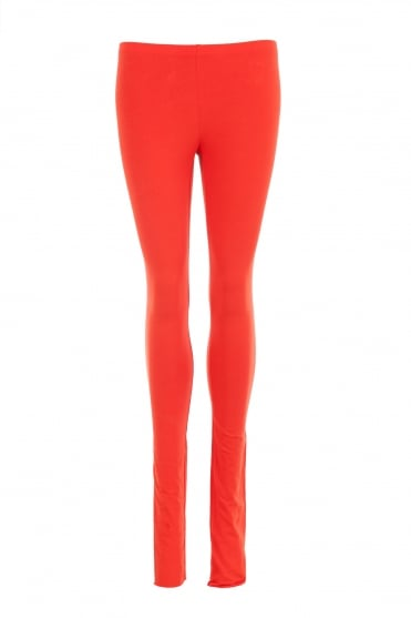 Orange Cotton Leggings