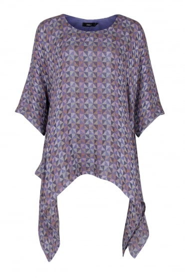 Multicolour Geometric Linen Tunic