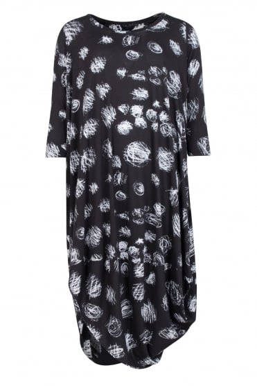 Black with Small Squiggle Dress