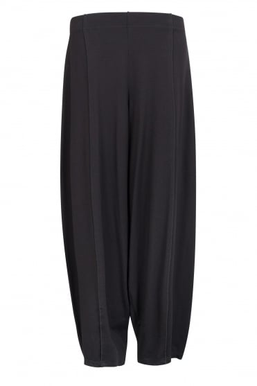 Black Stretch Jersey Trouser