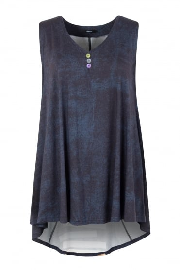 Chalk Print Sleeveless Milly Top