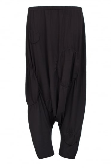Black Feature Circle Trouser