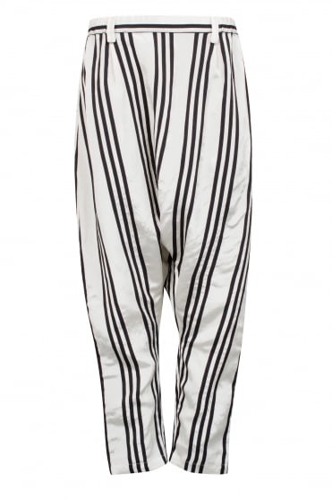 Stripe Silk-Blend Trouser
