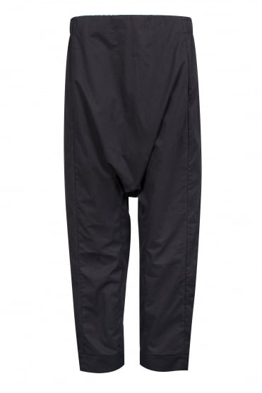 Black Pure Cotton Trouser