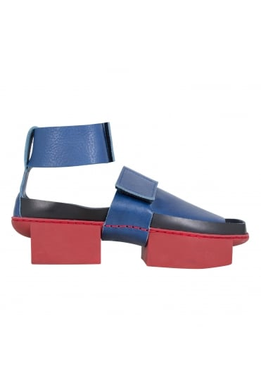 Cistern Blue Leather Sandals