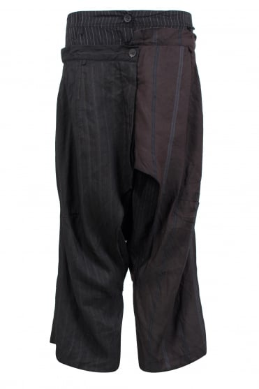 Amethyst Stripe Layered Trouser
