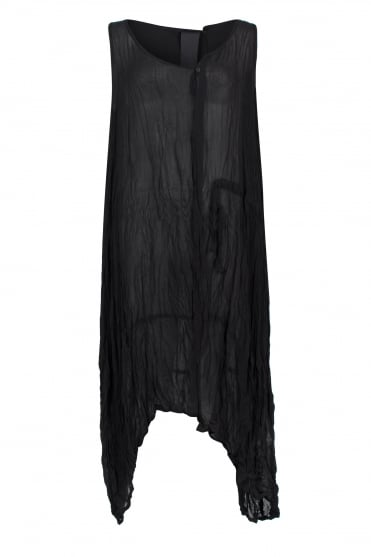 Black One-Size Chiffon Dress