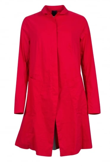 Red Architectural Coat