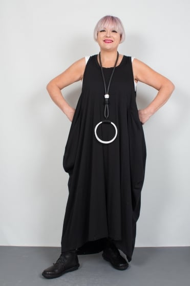 Black Jersey Jumpsuit-Dress