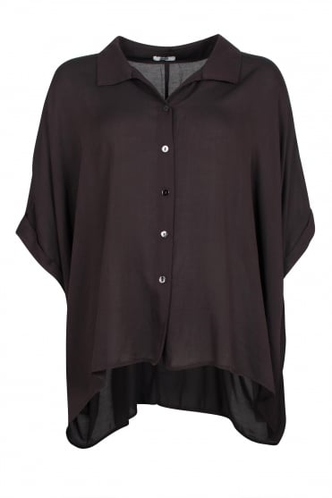 Dramatic Black Oversize Shirt