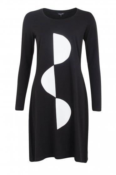 40132b99b220 Black Long Sleeve Dress  Design - Half Round