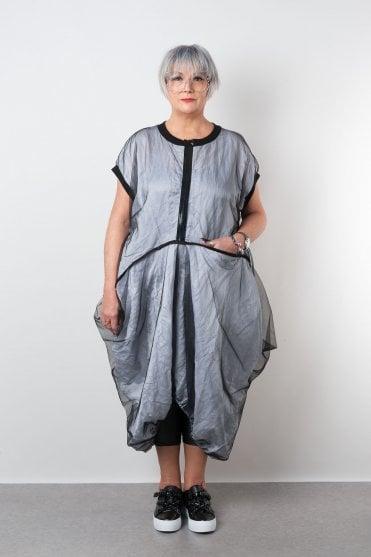 ad8877aa936c Misty Mesh Overlay Cotton Dress