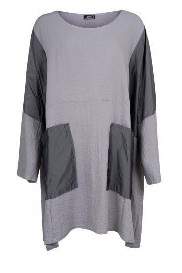 677d1deb2f Grey Sanga Linen-Blend Oversize Tunic · Akh Plus-Size ...